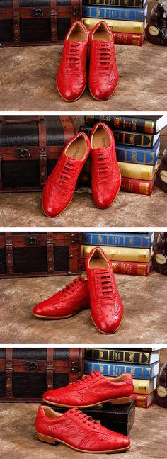 Men's Shoes, Ostrich Shoes, Genuine Ostrich Skin Shoes for Men