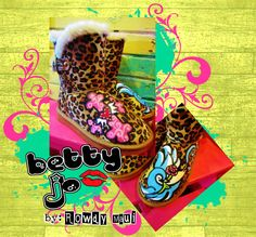 Rowdy Maui betty jo hand painted leopard uggs boots