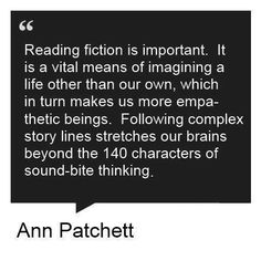 reading fiction is important...