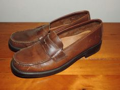 G H Bass Size 7.5 Womens Brown Vintage Leather by VintyThreads