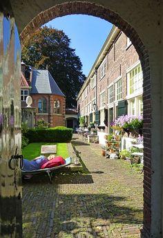 Resting - Sint Anna Hofje in Leiden by Caroliene · 365 Project  http://nl.wikipedia.org/wiki/Sint_Annahofje