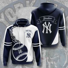 New York Yankees Hoodie - Inverlo Yankees News, Yankees Fan, New York Yankees Baseball, Sports Baseball, Sports Hoodies, Presents For Dad, Mlb, Cool Outfits, Warriors