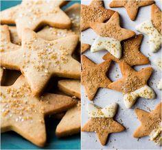 Flavorful maple cinnamon star cookies using a basic and easy sugar cookie dough! Recipe on sallysbakingaddic. Butter Sugar Cookies, Cinnamon Sugar Cookies, Easy Sugar Cookies, Star Cookies, Sugar Cookie Dough, Christmas Sugar Cookies, Holiday Cookies, Roll Cookies, Holiday Baking