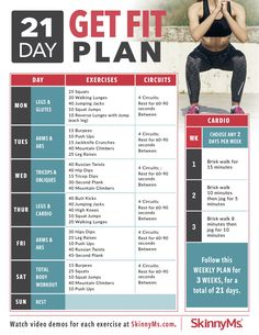 21-Day Get Fit Plan