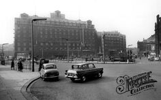 Old photo of City Square And Queen's Hotel c1965, Leeds