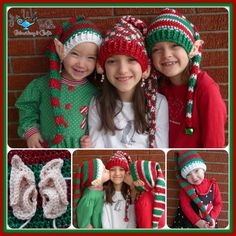 Ravelry: Elf Hat with Pointy Ears Pattern pattern by Yvette Manley Crochet Santa Hat, Crochet Christmas Hats, Christmas Crochet Patterns, Holiday Crochet, Crochet Beanie, Crochet Gifts, Crochet Baby, Free Crochet, Knit Crochet