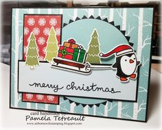 """airbornewife's stamping spot: 'MERRY CHRISTMAS"""" card using Lawn ..."""
