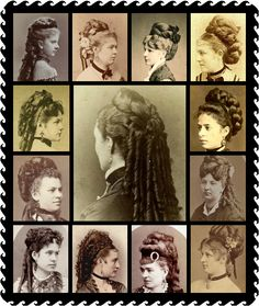 Victorian hair dressing with obvious false additions from contemporary sources. - Hairstyles Hair Ideas, Cut And Colour Inspiration Dress Hairstyles, Fancy Hairstyles, Vintage Hairstyles, Historical Hairstyles, Edwardian Hairstyles, Fairy Tale Costumes, Evolution Of Fashion, Long Natural Hair, Mermaid Hair