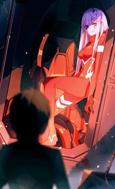 Image result for darling in the franxx hiro and zero two