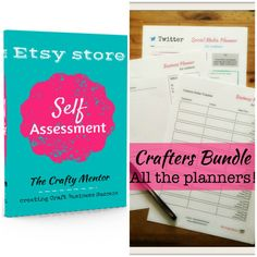 Etsy Seller bundle - Etsy Shop Self Assessment guide and business planner download pack. organise, seo help, social media, business success