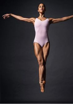 Misty Copeland in the air photograph. I love this pose and think it would make a great reference for an artwork. #art #ballet #dance