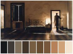 Nostalghia (Andrei Tarkovsky, 1983) Movie Color Palette, Colour Pallete, Colour Schemes, Color Palettes, Color Combinations, Color In Film, Noir Color, Blue Brothers, Cinema Colours