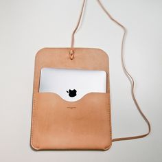 Tan, leather ipad case
