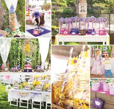 Whimsical Tangled Birthday Party Ideas-if her party is a family party vs a friend party