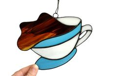 Coffee Kitchen Decor Cup of Joy Coffee Stained by ZangerGlass