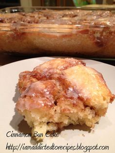 Addicted to Recipes: Cinabun Cake (Cinnamon Bun Cake)