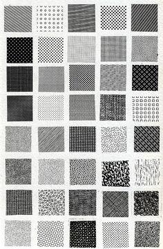Bruno Munari, esempi di textures by superfici_di_architettura, via Flickr