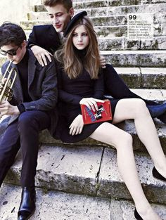 "The Terrier and Lobster: ""Le Beatnik, C'est Chic!"": Mayara Rubik Marchi by Paul Bellaart for Glamour UK October 2012"