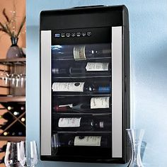 Wine Enthusiast 6Bottle WallMounted Wine Refrigerator  Silver >>> For more information, visit image link.