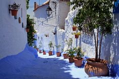 Chefchaouen Morocco, also known as the Blue City, is a small charming town of about inhabitants located in Marocco, near to the Mediterranean Sea. Paint Your House, Blue City, Travel And Tourism, North Africa, Art And Architecture, Morocco, The Good Place, Beautiful Places, Amazing Places