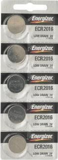 Energizer CR2016 Lithium Battery, 5-Pk - http://www.watchesandstuff.com/energizer-cr2016-lithium-battery-5-pk/