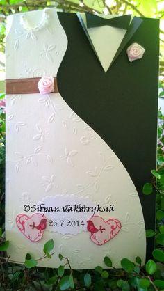 Sirpan väkerryksiä: Onnea hääparille! Christmas Ornaments, Holiday Decor, Card Ideas, Cards, Weddings, Photography, Photograph, Christmas Jewelry, Wedding