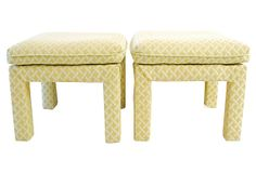 1960s Upholstered   Benches, Pair on OneKingsLane.com