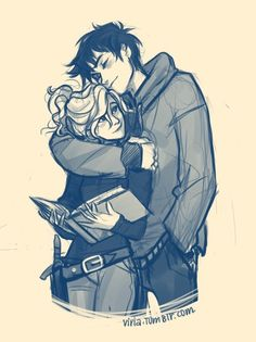 percy jackson viria makes the best percabeth drawings Anime Couples, Cute Couples, Art Sketches, Art Drawings, Hipster Drawings, Drawing Faces, Manga Drawing, Drawing Art, Drawing Tips