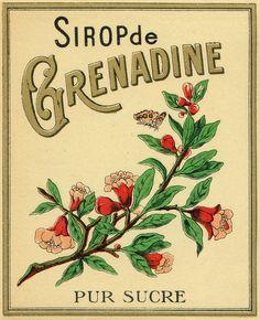 Vintage fruit labels grenadine 4 by pilllpat (agence eureka), via Flickr