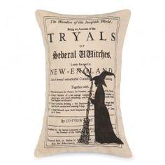 Witch Tryals Pillow | Sturbridge Yankee Workshop
