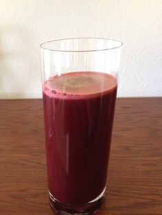 Juice of the day; Red rush- 1/2 red beet, 1 Fuji Apple, 1/4 pineapple, 4 piece kale, 2 carrots & 2 oz fresh ginger!