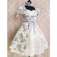Victorian maiden Rococo Bouquet Over Dress