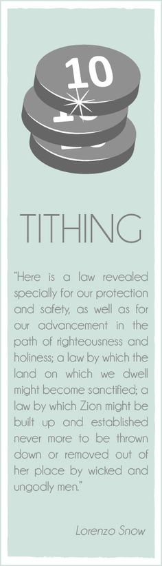 Relief Society handouts and lesson helps. Lorenzo Snow Chapter Tithing, a Law for Our Protection and Advancment — Latter-Day Villagers Relief Society Handouts, Relief Society Lesson Helps, Relief Society Lessons, Latter Days, Latter Day Saints, Inspiring Quotes, Great Quotes, Snow Quotes, Saint Quotes