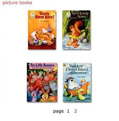 Children's Books Forever - books show up as adobe files and can be viewed on your computers