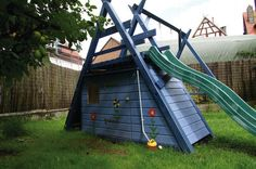Schaukel-Kletter-Rutsche-Spielhaus