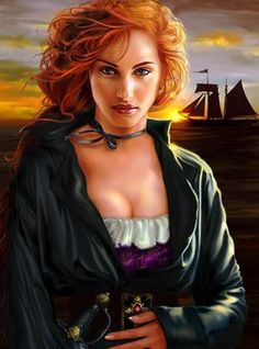 Arrrrrgh.......Grace O'Malley was the most powerful female pirate of the Elizabethan age. Her life story is incredibly inspiring.