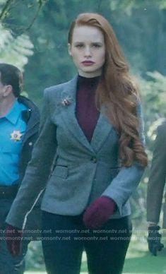 Cheryl's herringbone blazer on Riverdale.  Outfit Details: https://wornontv.net/67258/ #Riverdale