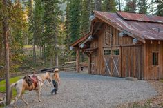 Headwaters Camp Rustic Barn Design, Big Sky, Montana - traditional - garage and shed - other metro - Dan Joseph Architects