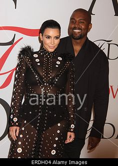 New York, USA. 1st June, 2015. #KimKardashian and #KanyeWest attend #CFDA Fashion Awards. © Nancy Kaszerman/Zuma/Alamy Live News