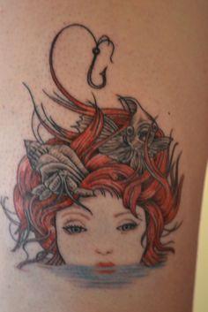 Mermaid tattoo / Girl and Fish