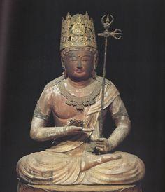 蓮華虚空蔵菩薩(神護寺)  虚空蔵菩薩  梵名アーカーシャ・ガルバ आकाशगर्भ  虚空蔵菩薩とは広大な宇宙のような無限の智恵と慈悲を持った菩薩