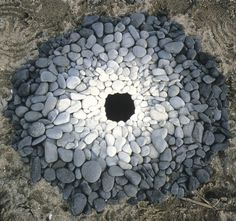 Andy Goldsworthy, Pebbles Around A Hole, 1987