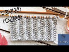 Punto Acanalado Deslizado tejido en dos agujas: 2 vueltas y 2 pasos (en estilo inglés y continental) - YouTube