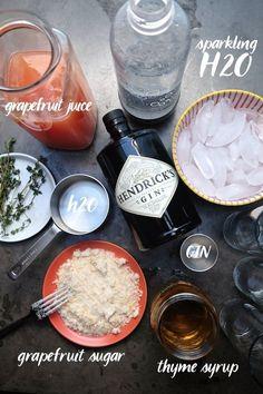 Grapefruit Thyme Cocktail | shutterbean | Bloglovin'