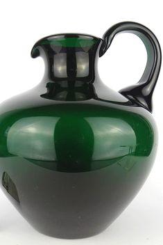 Großer Glas Krug Prof. BRUNO MAUDER Zwiesel Theresienthal um 1930 Ceramics, Glass, Home Decor, Ceramica, Pottery, Decoration Home, Drinkware, Room Decor, Corning Glass