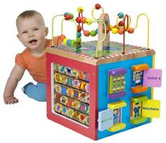 ALEX® Toys - Alex Jr. My Busy Town -Baby Wooden Developmental Toy 4W
