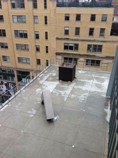 Robert Morris Tony Smith Artist Sculptures Renzo Piano Architect New Whitney Museum Of American Art Manhattan New York