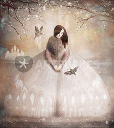 """""""Moth Princess"""" Digital Art als Poster und Kunstdruck von Christian Schloe bestellen. - ARTFLAKES.COM"""