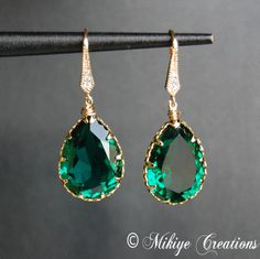 Swarovski EMERALD Jewelry   ... these new swarovski colors emerald swarovski crystal earrings e106