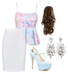 """""""Pastel proper"""" by rayrayanna ❤ liked on Polyvore featuring moda, HUGO, Forever 21, pastels e pencilskirt"""